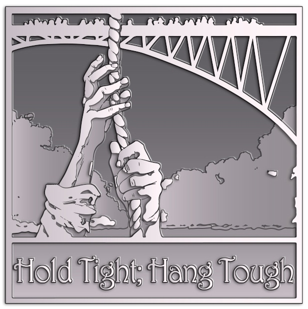 Hold Tight; Hang Tough pin